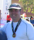 Ken having just finished the St. George Marathon in 2006