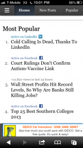 The article, Cold Calling is Dead, trended to #1 on all of Forbes.com over the weekend