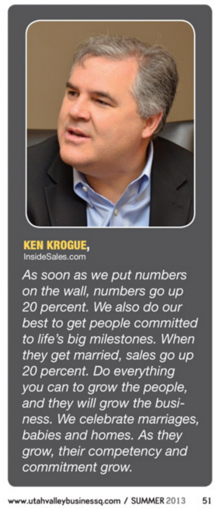 Ken Krogue responds to a question in the BusinessQ Sales Leaders Roundtable